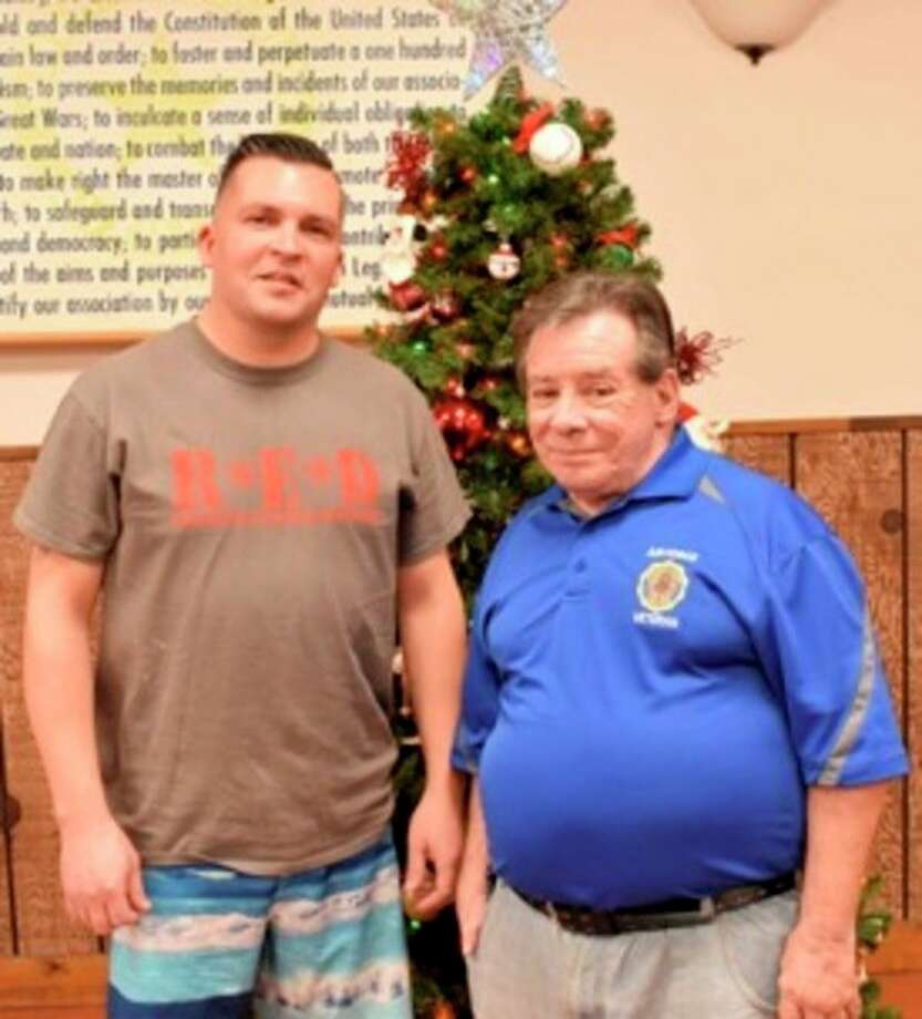 Post 165 Commander James Cherry and Post 443 Command Mark Authier. (Photos provided)