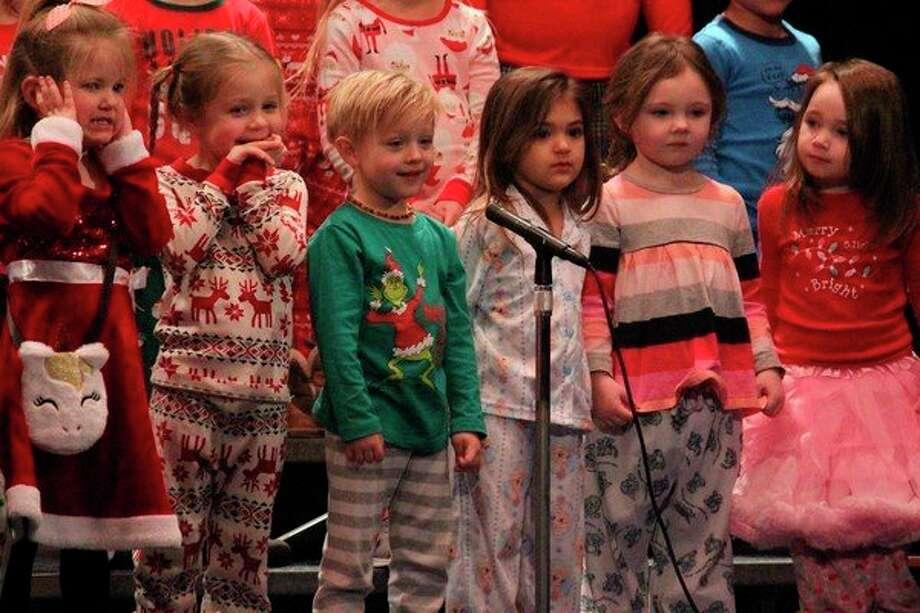 Headstart students open up Thursday's elementary concert. (Photo/Robert Myers)