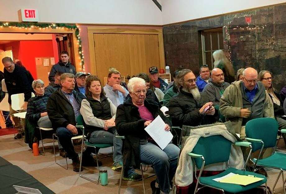 """Community members expressed their concerns about the sale of recreational marijuana at the city council meeting Dec. 16. Some residentsshared their concerns about Evart apparently becoming known in some circles as """"Pot City."""" (Herald Review photo/Cathie Crew)"""