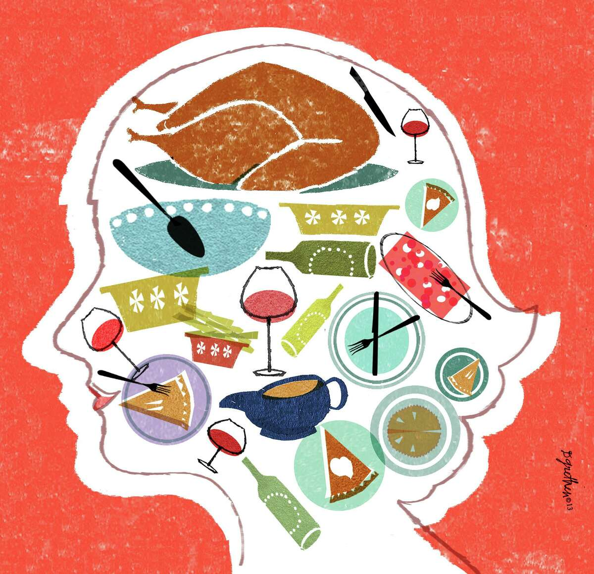 Illustration for op-ed about eating disorder during holidays