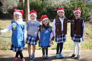 Students of Trinity School celebrate the holiday season by serving others throughout the Midland community.