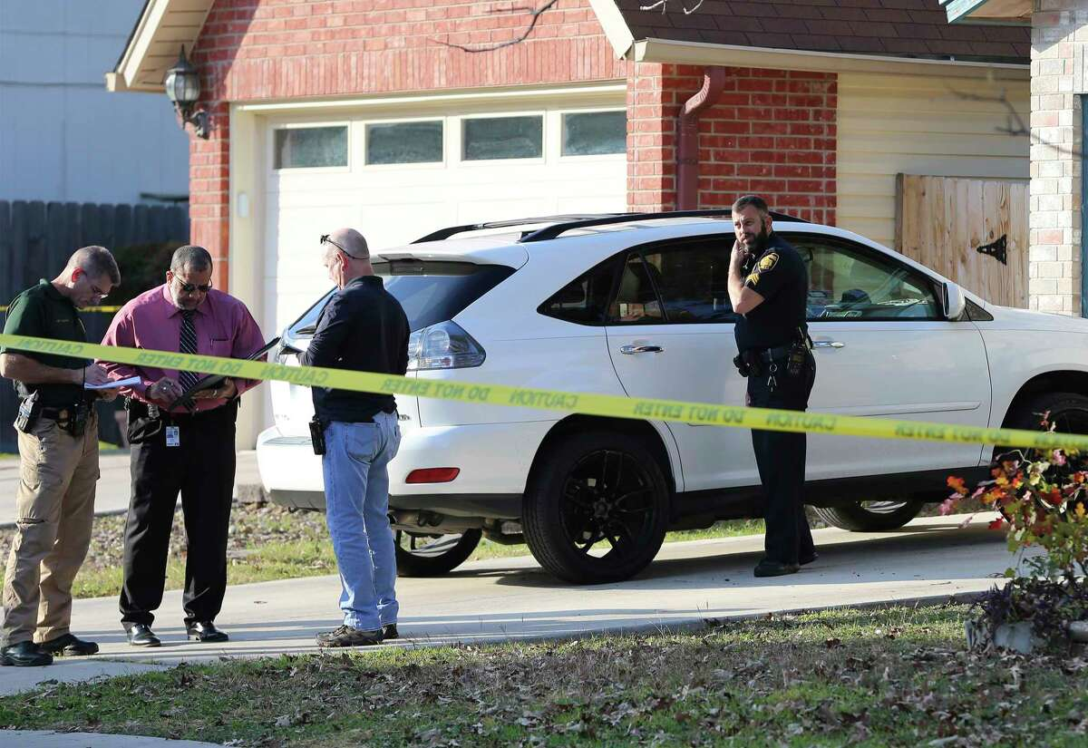 San Antonio Police are investigating a fatal shooting at a home located at the 11000 block of Candle Park located on the Northwest Side on Wednesday, Dec. 25, 2019. The shooting left a pregnant woman and her baby dead on Christmas Day. The shooter, the father of the women's children, also shot himself but is currently in the hospital in bad shape according to police.