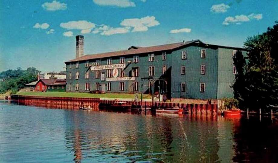 The Century Boat factory that was located on the Manistee River channel is shown in this early 1960s photograph. The building was located where the current Century Terrace building exists today.