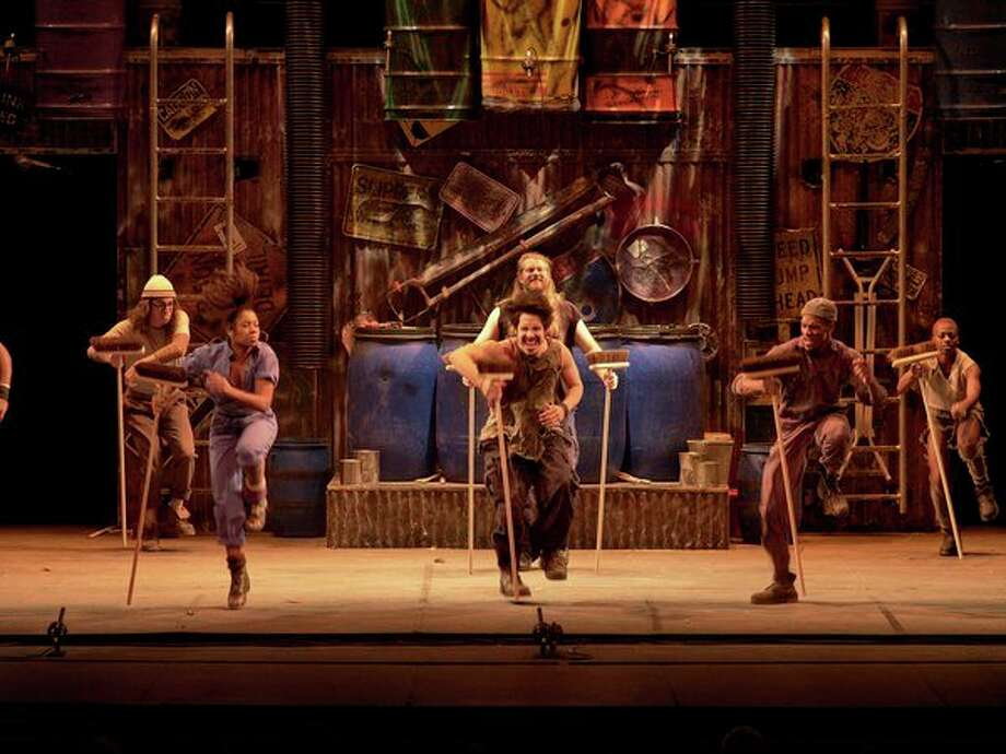 """STOMP performers """"make a rhythm out of anything we can get our hands on that makes a sound,"""" says co-founder/director Luke Cresswell.(Photo provided/Midland Center for the Arts)"""