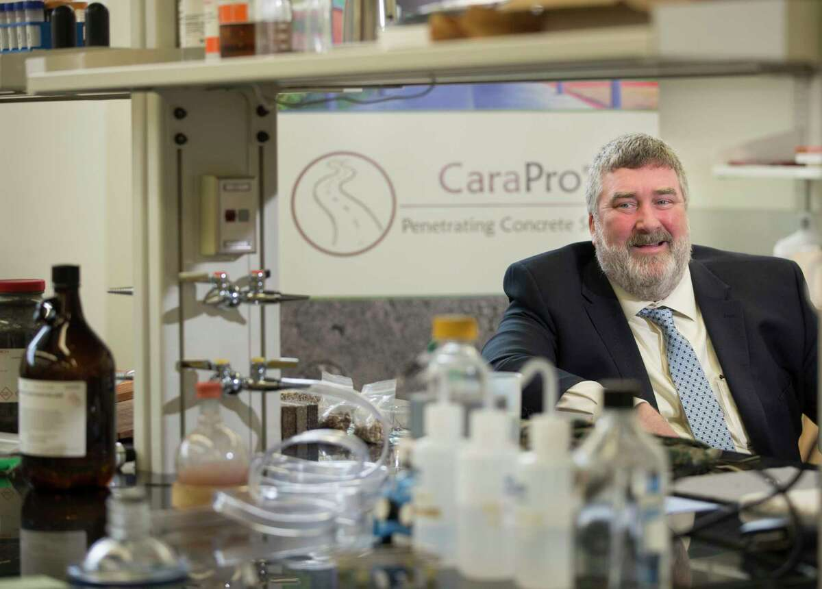 Seamus Curran, professor of physics in the University of Houston College of Natural Sciences and Mathematics, talks about his company, Curran Nanotechnologies, at his lab on Thursday, Dec. 12, 2019, in Houston. Curran holds 19 issued and 12 pending U.S. patents and 40 international patents.