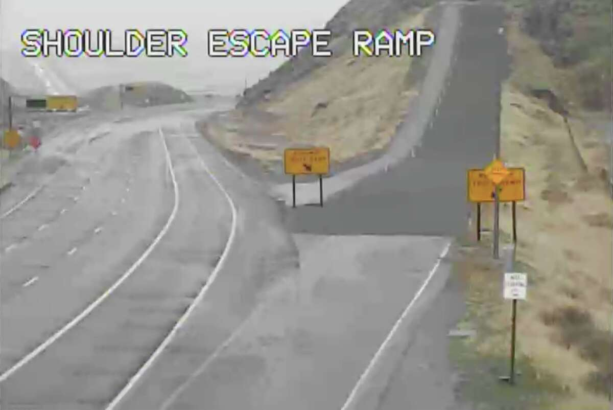 A storm in Southern California dumped rain and snow, making driving in the Grapevine area difficult. The California Highway Patrol shut down that portion of I-5 and Hwy 58 Wednesday night into Thursday morning.