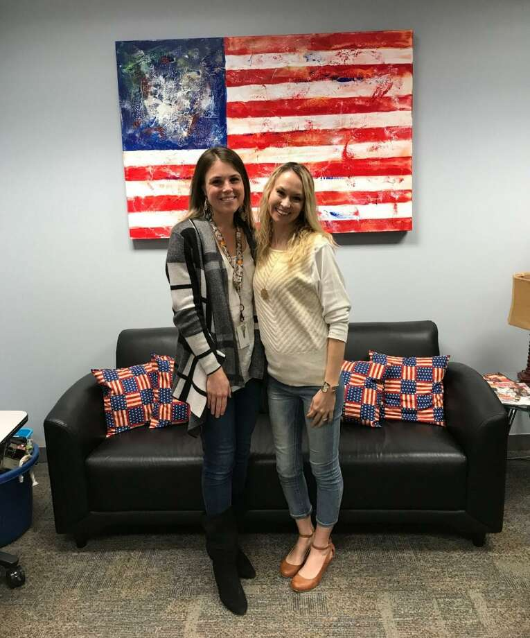 Rebecca Escobedo (right), Hope for the Warriors New Beginnings $1,500 scholarship recipient, celebrates withHope For The Warriors staff member, Chrystal Keilers (left). Photo: Courtesy By Hope For The Warriors