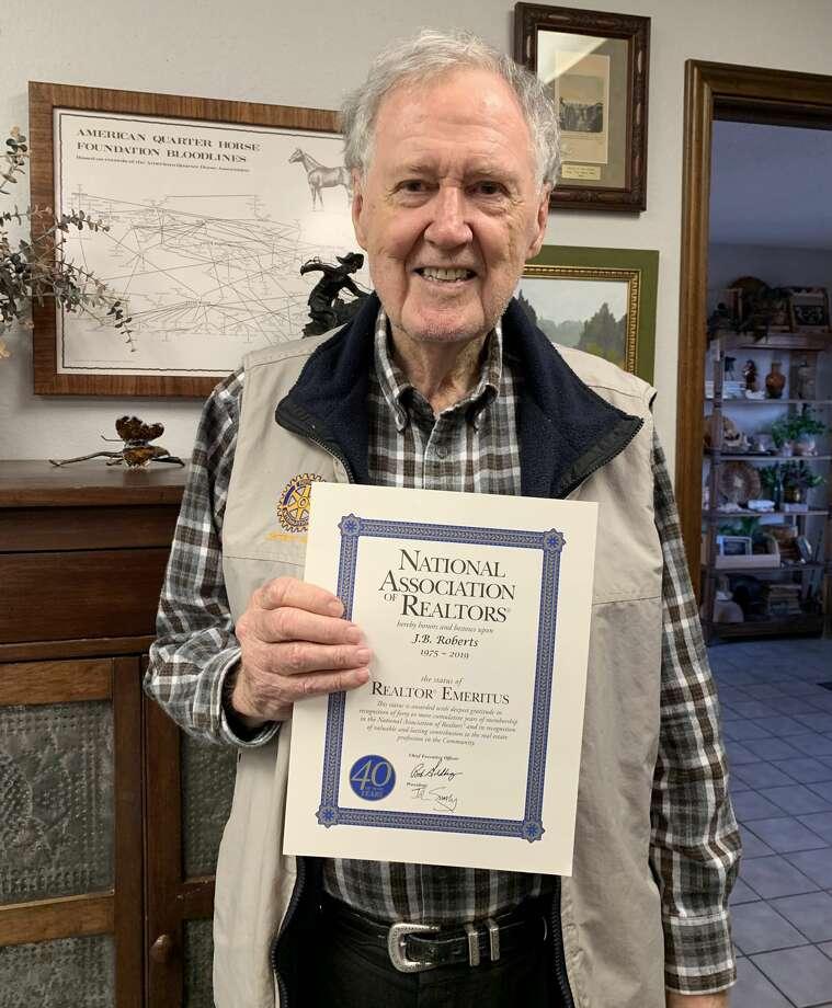 JB Roberts – Emeritus Status Certificate recipient Photo: Courtesy Photos/Plainview Association Of REALTORS