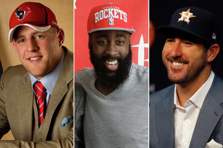 J.J. Watt, James Harden and Justin Verlander joined Houston teams in franchise-altering moves this decade.