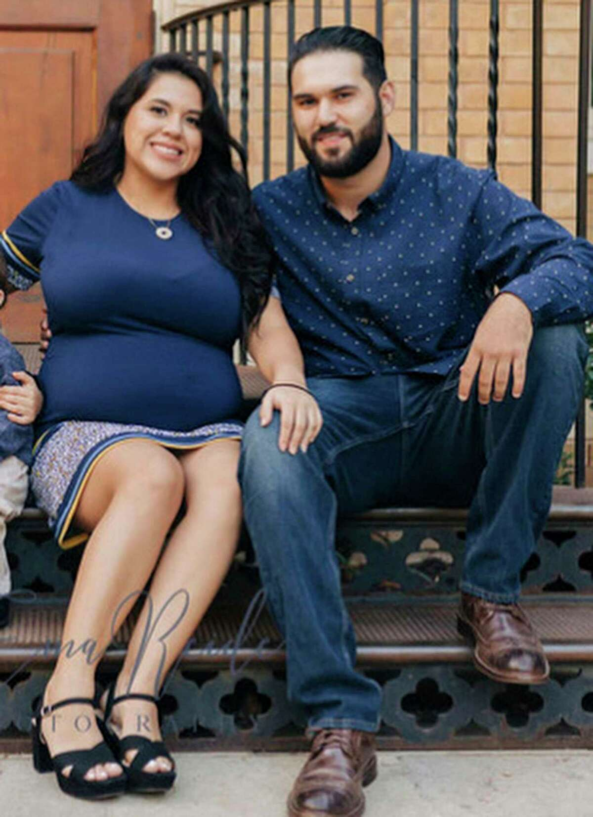 Gabriella Rodriguez, left, and Giancarlo Garza, seen in a photo provided by Garza, was expecting a daughter with Garza when she was shot and killed by her ex-boyfriend, William Bayles, on Christmas 2019.