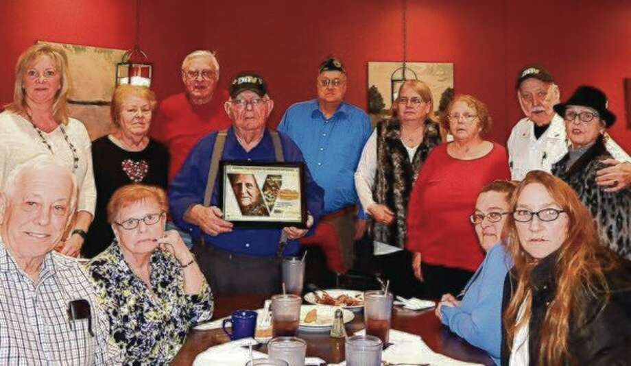 Members gathered at the Disabled American Veterans Chapter No. 43 dinner in 2018 to celebrate helping local veterans for 75 years. Pictured (left to right) are members of the DAV Dennis Johnson, Karen Korolenko, Stanley Wikosz, Birney Summers, Larry Rathburn, Rose Hammond and Thomas Dutkavich, along with their spouses and supporters. (Courtesy photo/DAV)
