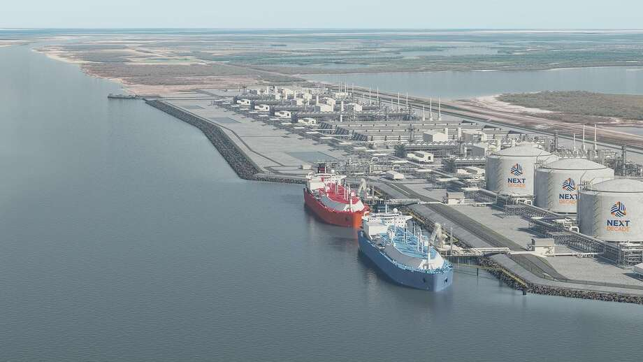 Four proposed liquefied natural gas export projects along the Texas coast landed federal permits to ship a combined 47 million metric tons of liquefied natural gas per year to non-free trade agreement nations such as Japan, South Korea and India. Photo: NextDecade / Courtesy Photo