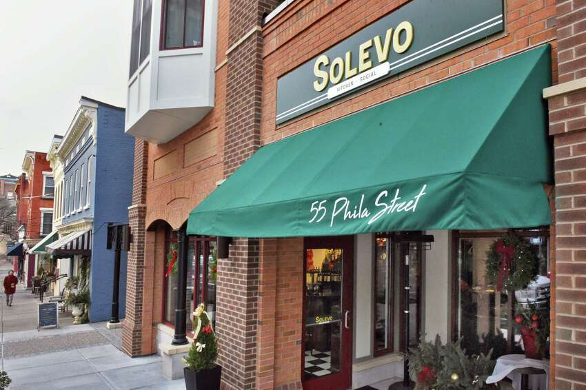 Entrance to Solevo Kitchen + Social on Phila Street Thursday Dec. 6, 2018 in Saratoga Springs, NY. (John Carl D'Annibale/Times Union)