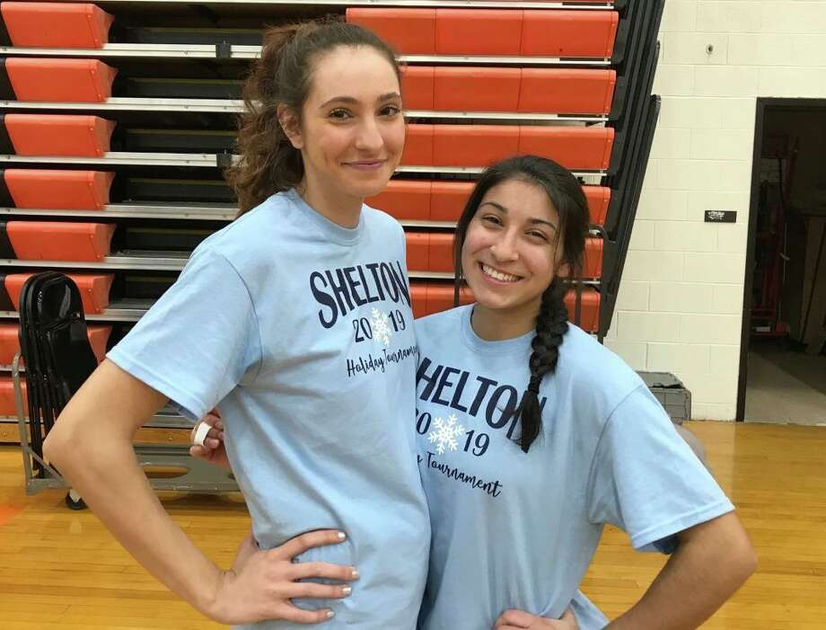 Reem Abdel-Hack and Leya Vohra are Shelton High captains. The Gaelettes have won their first four games. Photo: Bill Bloxsom / Hearst Connecticut Media / Shelton Herald