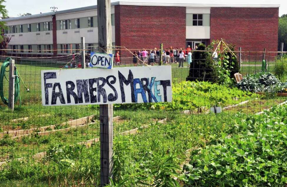 Goff Middle School Organic Garden and Farmer's Market in East Greenbush. (John Carl D'Annibale / Times Union)