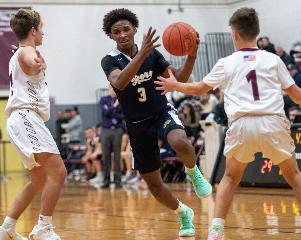 Cohoes guard Royal Brown was named Athlete of the Year for the Times Union Small-School All-Star team. (Jim Franco/Special to the Times Union.)
