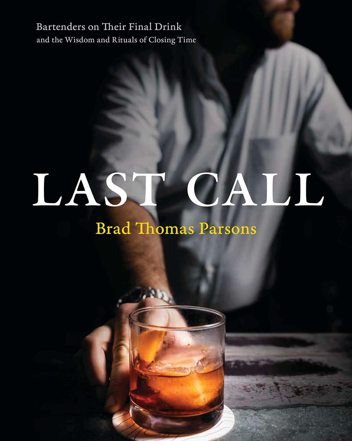 """James Beard award winning spirits author Brad Thomas Parsons experienced an existential crisis after a revelrous night at a favorite local bar. Parsons and photographer Ed Anderson visited more than 80 bars and bartenders across the country, posing the question, """"What is the last thing you'd want to drink before you die?"""" Illuminating answers and shadowed portraits reveal far more than final drinks. -- Louisa Chu (Courtesy Amazon/TNS)"""