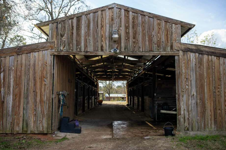 A stable which will hold Henry and 23 other horses on a new 21-acre property in Conroe, Thursday, Dec. 26, 2019. Henry's Home is a non-profit organization which allows veterans and first responders the opportunity to heal by proving care to animals which have been surrendered. Photo: Gustavo Huerta, Houston Chronicle / Staff Photographer / Houston Chronicle