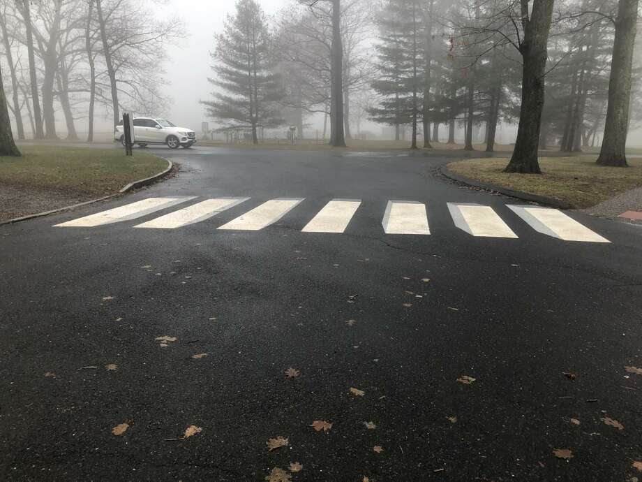 Pictured is one of two 3D crosswalks that are in Waveny Park, which is located at 677 South Ave. in New Canaan, Connecticut. Photo: Contributed Photo