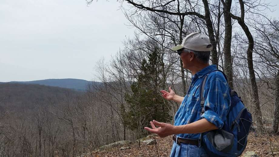 Wendolyn Hill, Lyme Land Trust board member, and Lyme Open Space coordinator, will lead a walk to the overlook in Pleasant Valley Preserve on New Year's Day. Photo: Lyme Land Trust / Contributed Photo