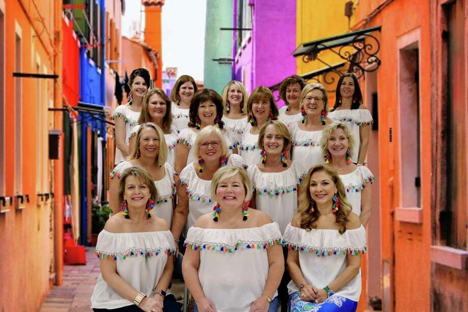2020 Road Trip Committee members invite you to join them for an enchanting evening at the Road Trip to South America on February 1st at Fluor in Sugar Land. Pictured from left in the front are?Cheryl Brown, Julie Honefenger and Lisa Murphy; in the second row are?Terri Nieser, Josie Beecroft, Lisa Short and Allison Haun; in the third row are?Mary Sloan, Sandra Lowe, Colleen Flint and Gail McClendon; and in the back row are?Melanie Anbarci, Karen Nemesi, Ann Edgar, Ali Burrows and Marissa Groeneveld. Photo: Courtesy Photo