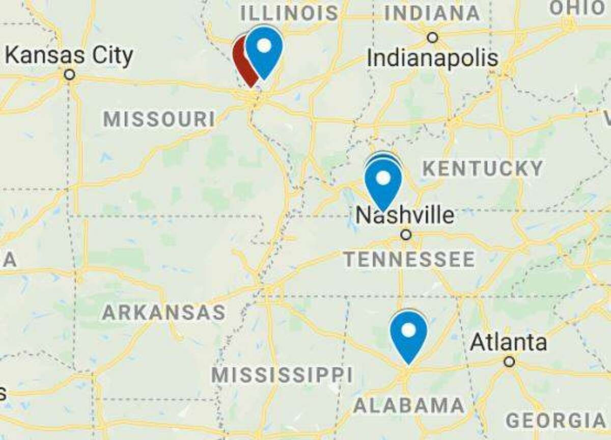 The alleged seven-day crime spree of Brady Witcher and Brittany McMillan through four states began with one murder in Alabama and ended with three murders in Bethalto.