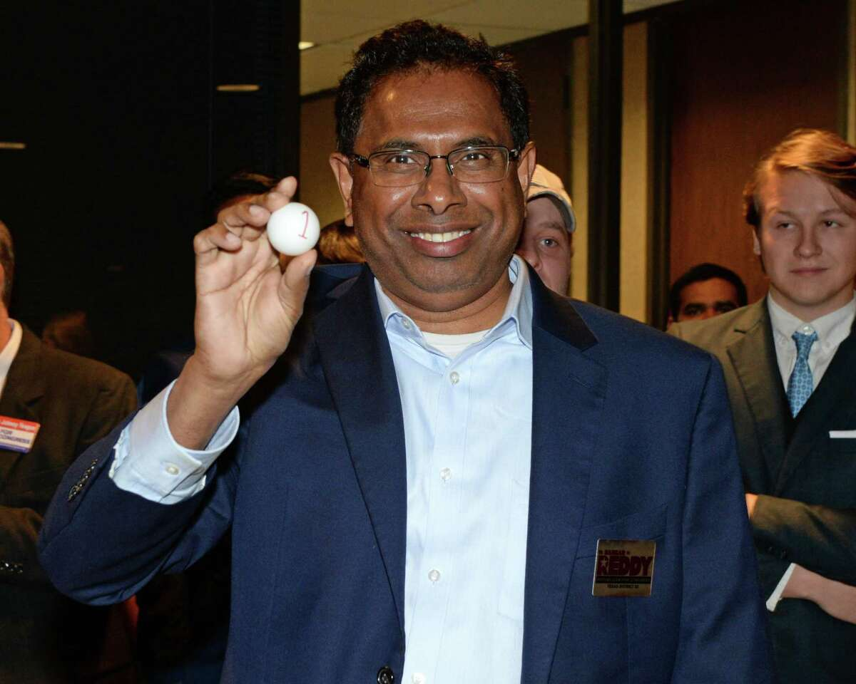 Bangar Reddy draws number one to and will appear first on the March 3, 2020 Ft. Bend County Republican primary ballot among candidates for U.S. Congressional District 22. Sugar Land, TX on Thursday, December 19, 2019.