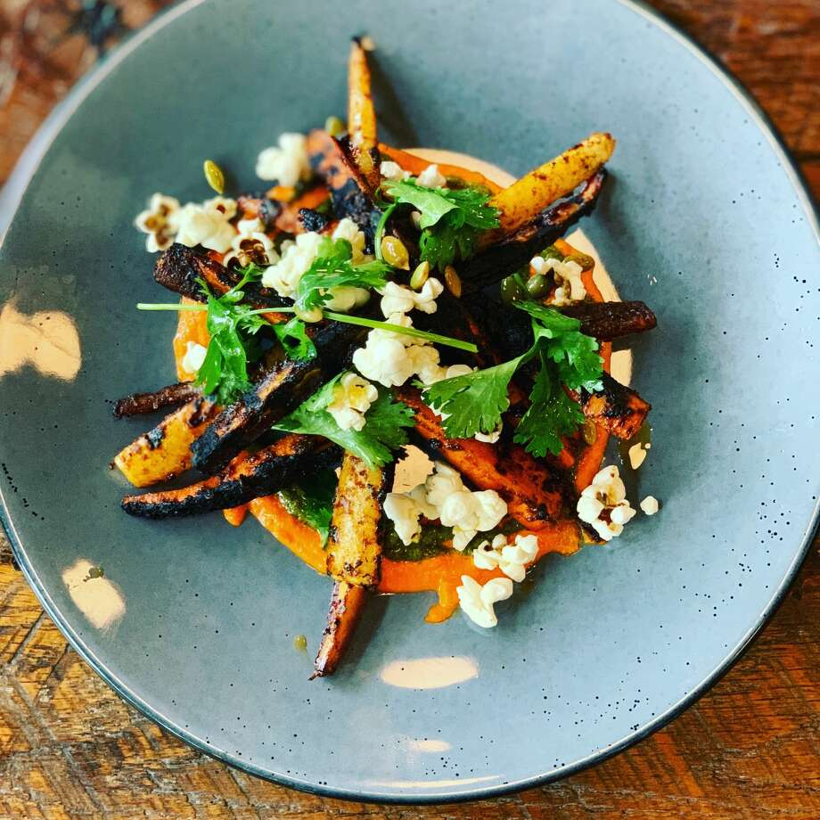 Gather Kitchen and Bar doles out rotating global fare like the BBQ jerk carrots. Photo: Gather Kitchen And Bar