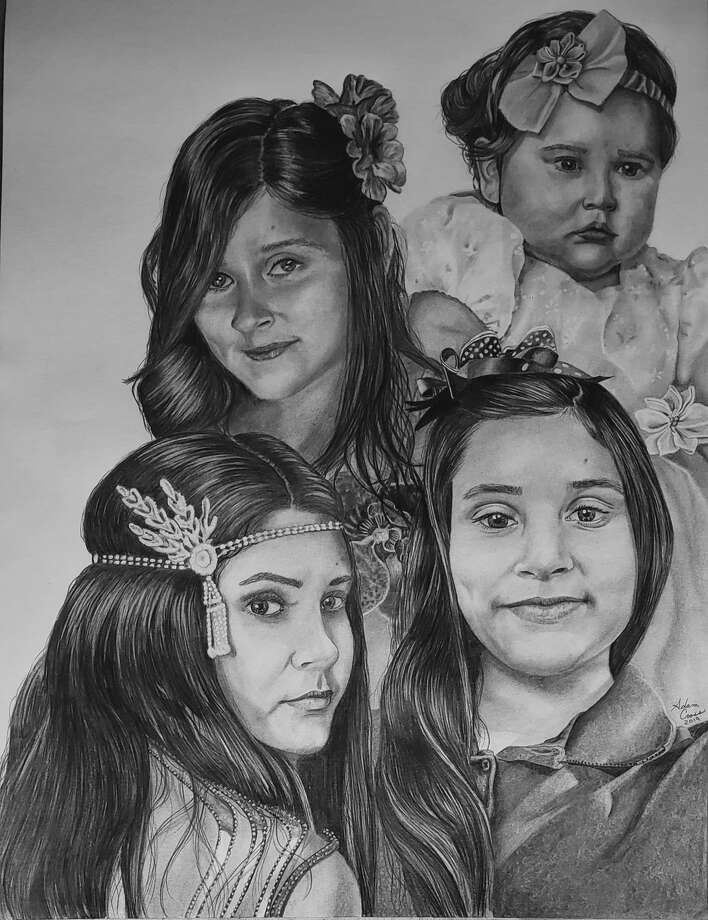 Odessa teacher Adam Cross created this portrait of Leilah Hernandez – the Odessa High students who was killed in the mass shooting – for her parents. Photo: Courtesy Photo