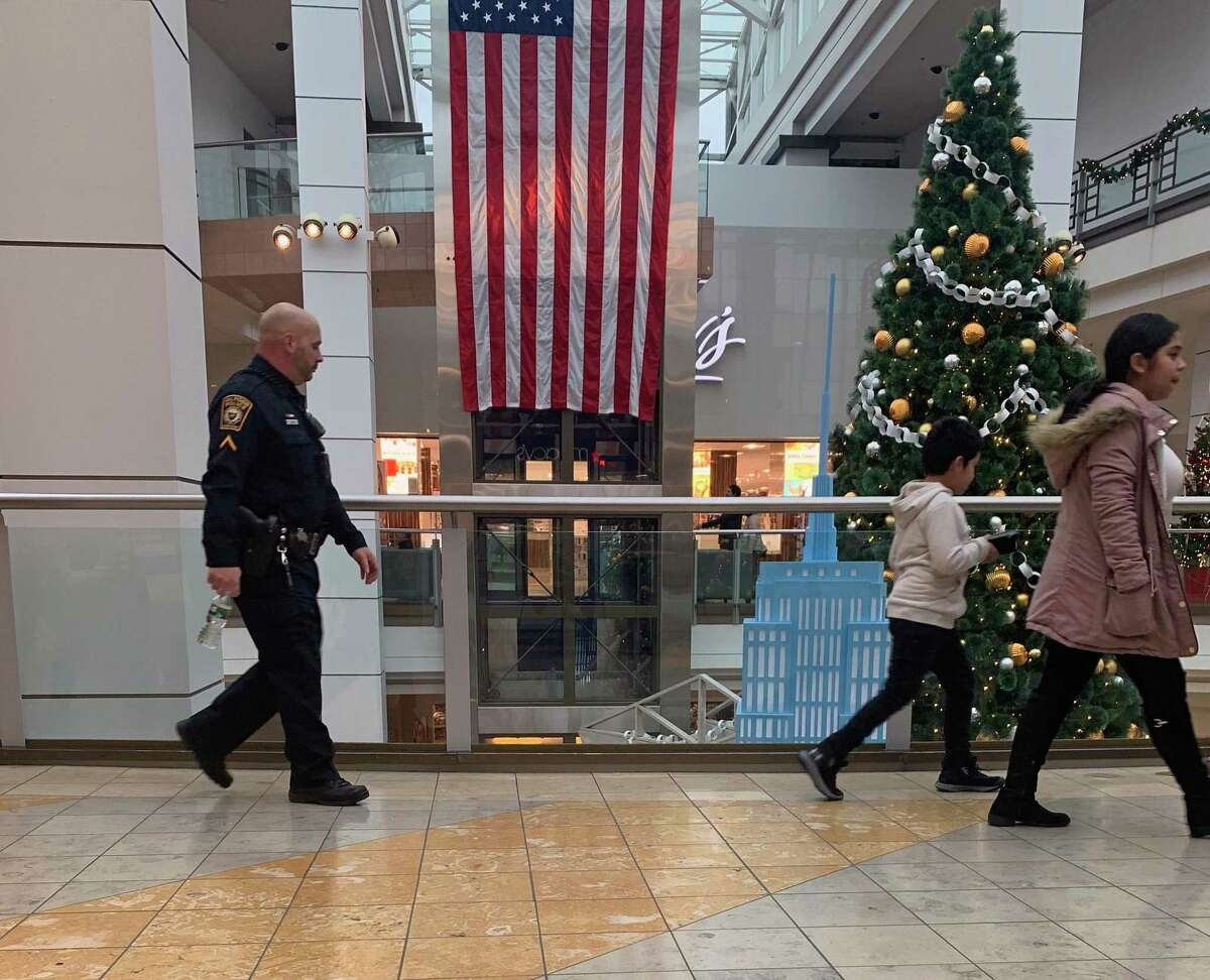 There were 10 police officers assigned to the Connecticut Post Mall on Friday, Dec. 27, 2019, after fights broke out at the mall Thursday.