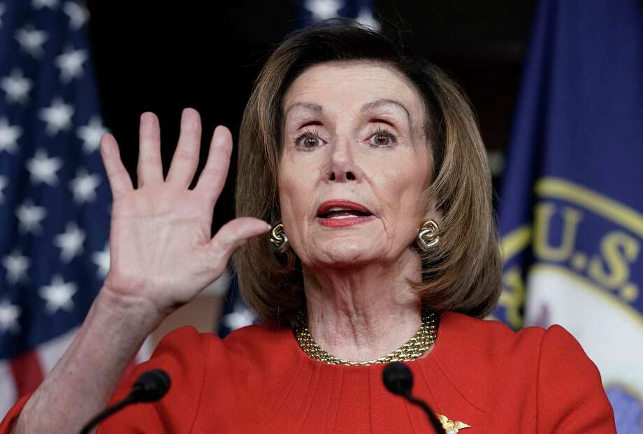 A reader suggests House Speaker Nancy Pelosi is pursuing a bit of her own quid pro quo. Photo: J. Scott Applewhite /Associated Press / Copyright 2019 The Associated Press. All rights reserved.