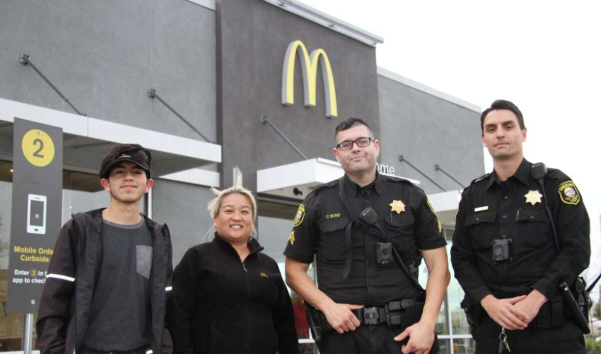 The San Joaquin County Sheriff's Office credited McDonald's employees with saving a woman from her alleged abuser.