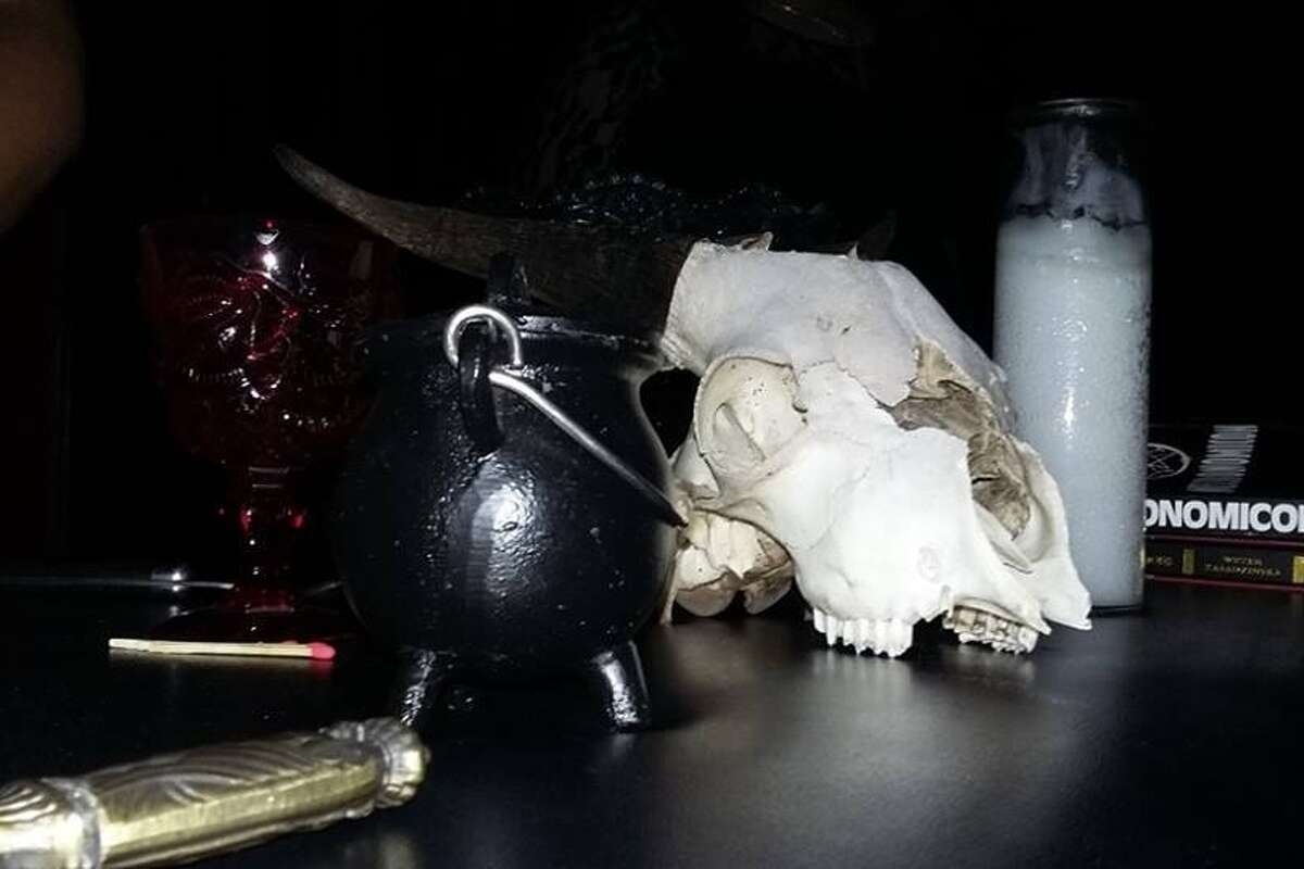 Images from various Satanic Bay Area meetups and events.