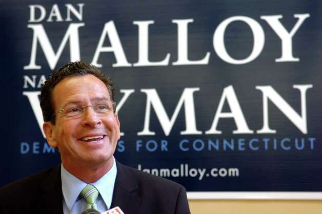 Democratic candidate for Governor Dan Malloy speaks during a press conference at his campaign headquarters, Hartford, Conn. Wed. Aug. 11th, 2010. Photo: Ned Gerard / Connecticut Post