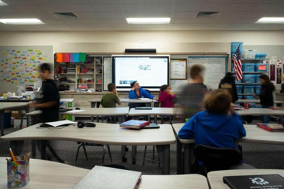 Burnt Ranch, CA--December 13, 2019: a new Smart Classroom (grades 5+6, Mrs. Kilgore's room) Photo: Dave Woody