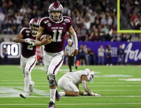 Texas A&M quarterback Kellen Mond's 67-yard touchdown run in the fourth quarter broke a 14-all tie against Oklahoma State in the Texas Bowl. Mond rushed for 117 yards, and was 13-of-19 passing for 95 yards and a touchdown.