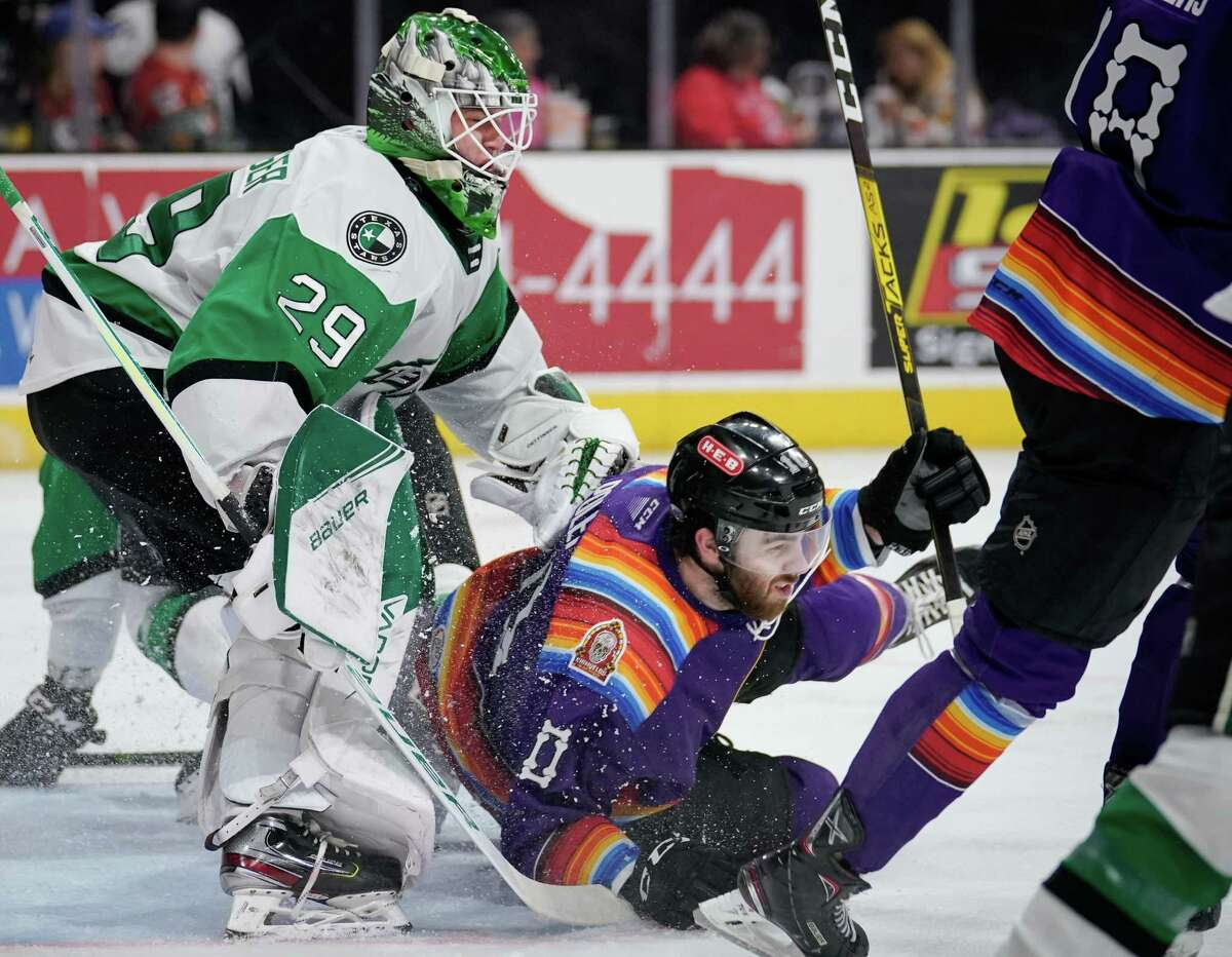 The Texas Stars play the San Antonio Rampage during the second period of an AHL hockey game, Friday, Dec. 27, 2019, in San Antonio. (Darren Abate/AHL)