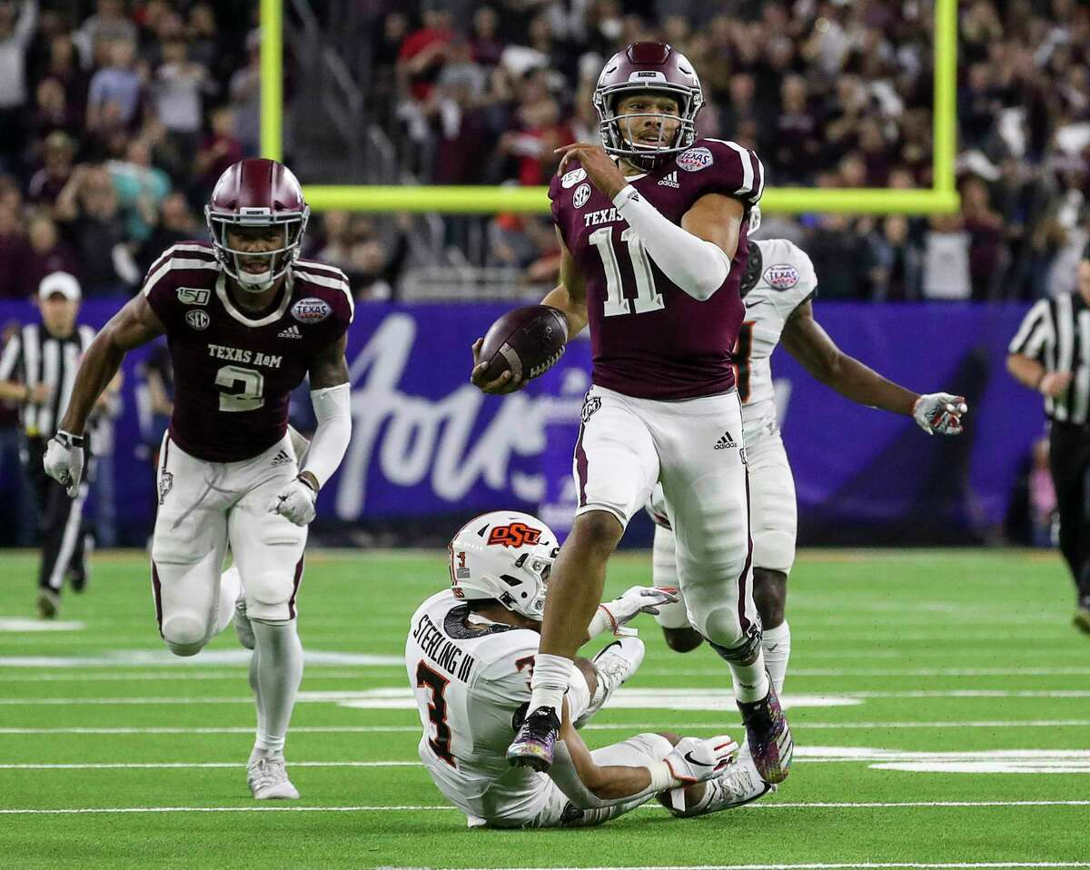 Kellen Mond, breaking away for a 67-yard touchdown in the Texas Bowl, wants to lead the Aggies to bigger things his senior season.