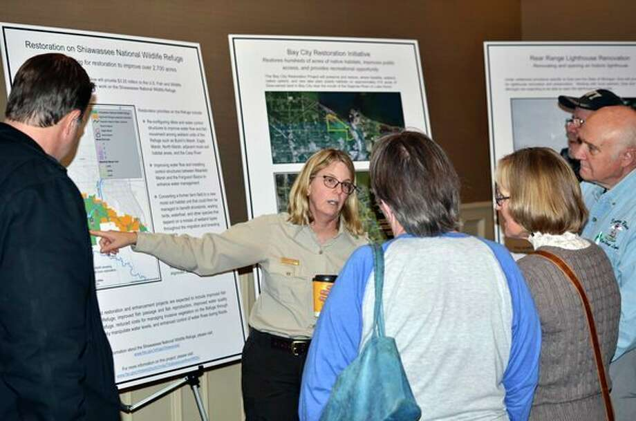 Natural resources trustees highlight settlement projects at a November public meeting in Saginaw. (Michigan Department of Natural Resources/Courtesy Photo)