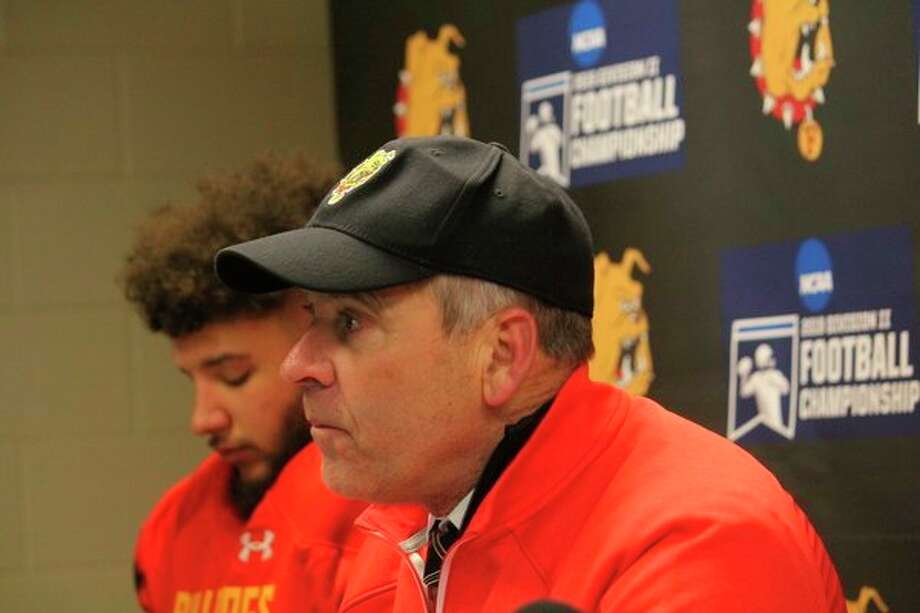 Ferris State football coach Tony Annese took the Bulldogs to the national semifinal game for the third straight year. (Pioneer photo/John Raffel)