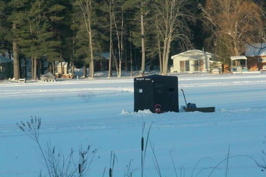 Ice fishing may not return in some areas until next month. (Pioneer file photo)