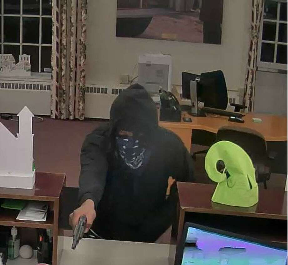 Pictured is a man police say robbed TD Bank on Amity Road in Woodbridge, Conn. on Friday, Dec. 27, 2019. They were still searching for him the next morning. Photo: Contributed Photo / Woodbridge Police Department