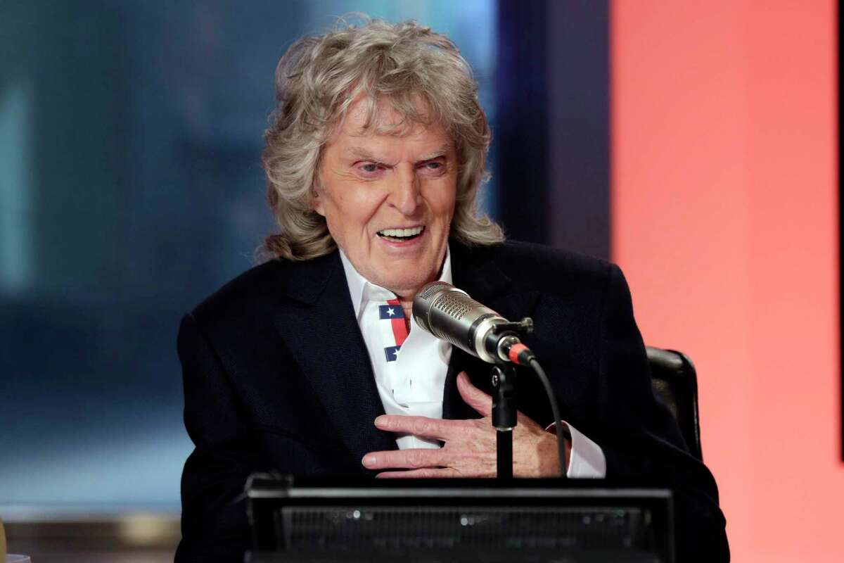 FILE - In this Friday, May 29, 2015 file photo, Cable television and radio personality Don Imus appears on his last