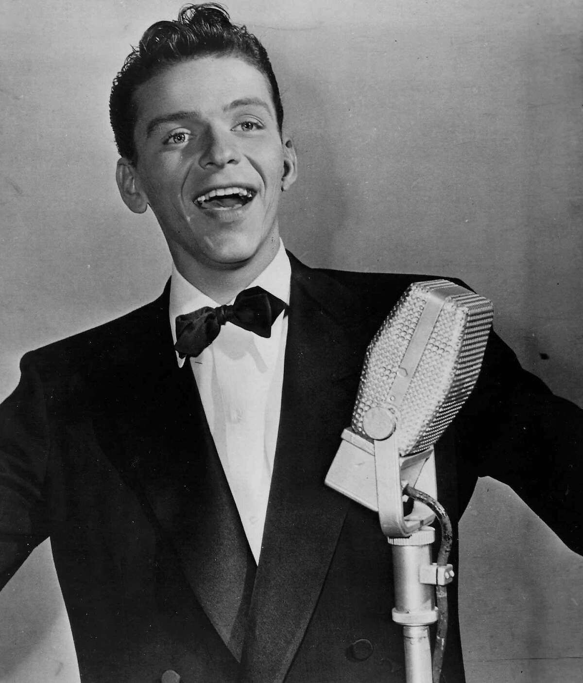 A youthful Frank Sinatra is shown in an undated file photograph. A letter believed to be from him to a Houston woman was found at a recent estate sale.