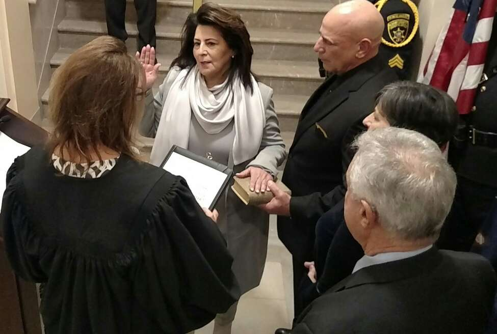 Susan Rizzo is sworn in as Albany County Comptroller on Saturday Dec. 28, 2019.