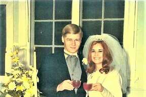 Vickie and Mike Johnson at their wedding