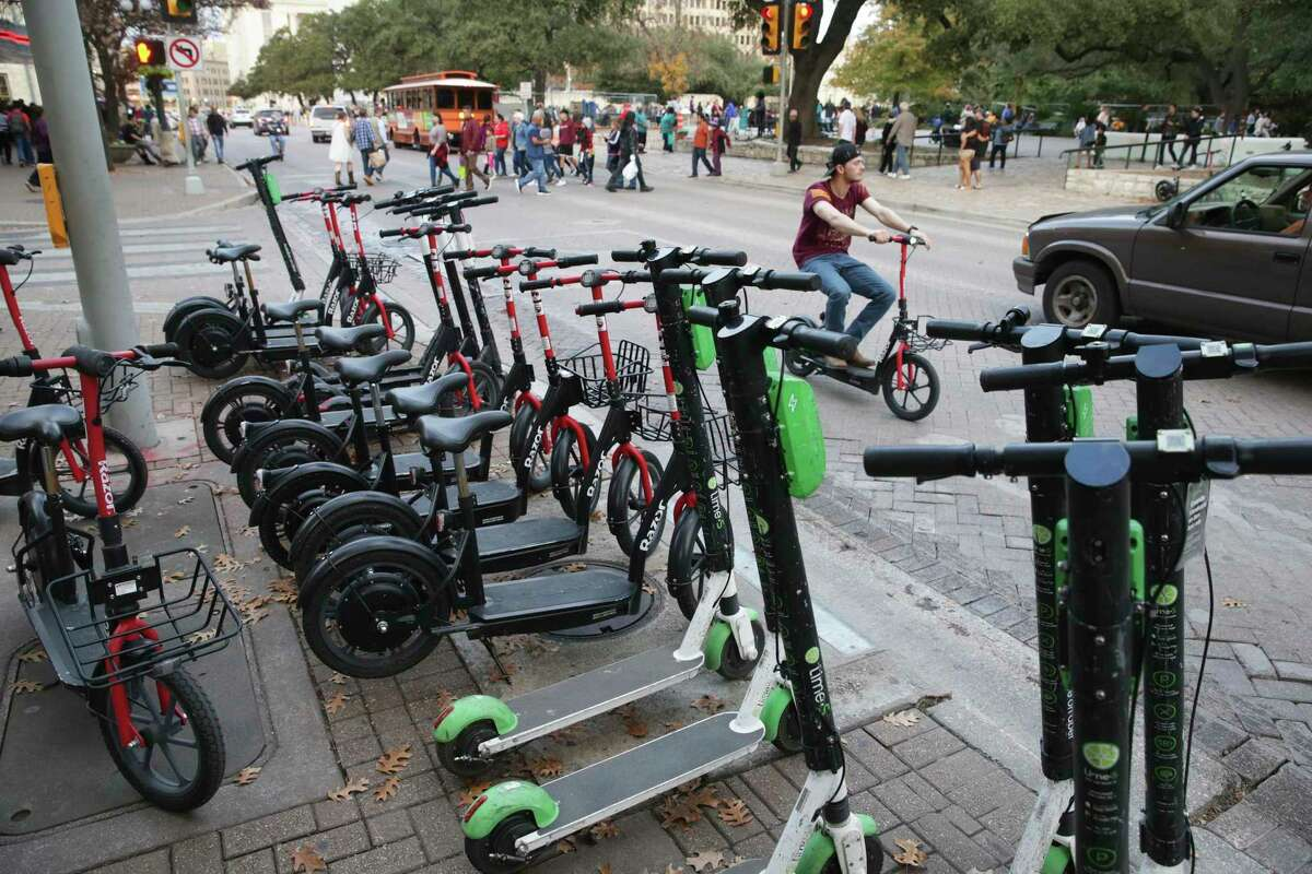 At the height of the scooter craze, there was about 7,600 of the dockless vehicles downtown.