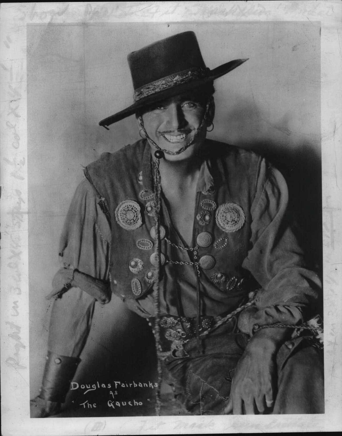 "Actor Douglas Fairbanks, Sr. as ""The Gaucho"". Undated (Times Union Archive)"