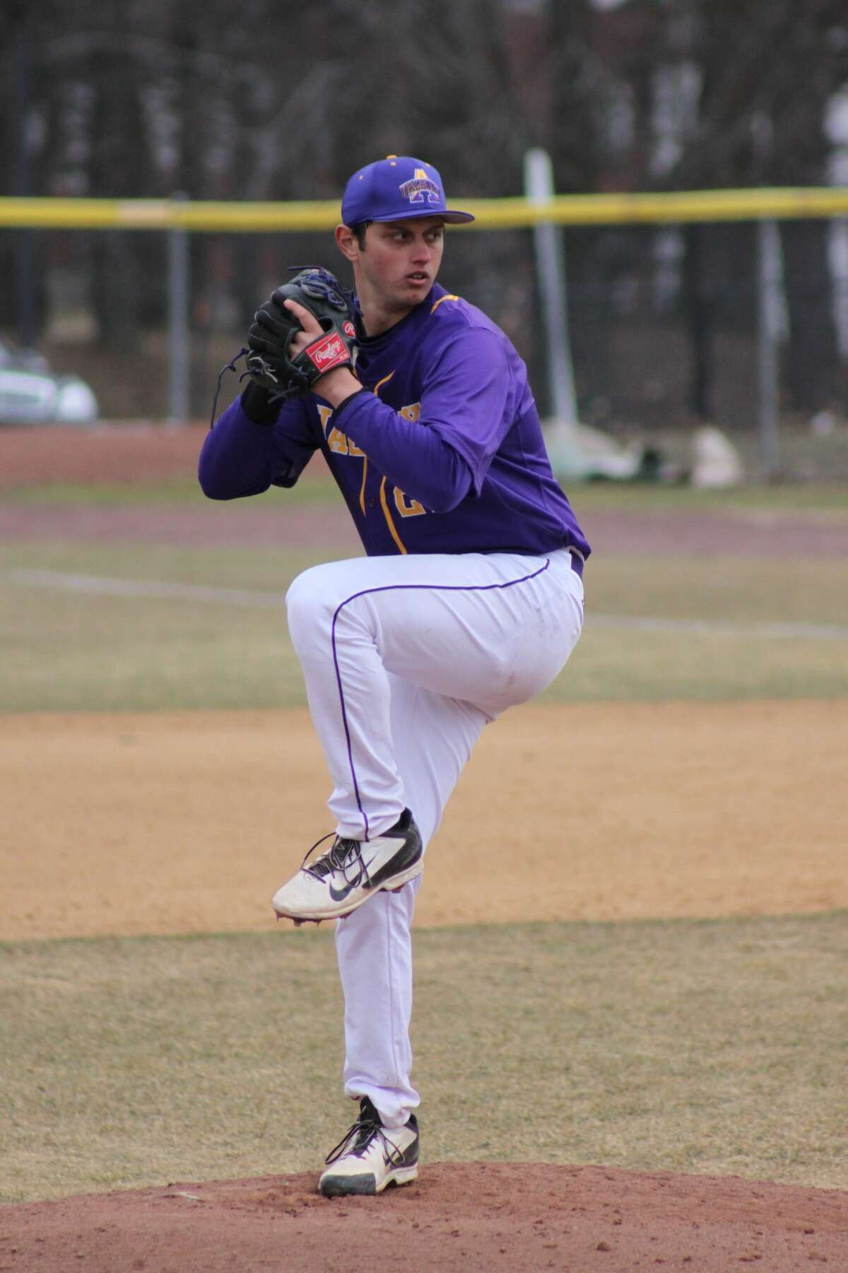 Former UAlbany pitcher Stephen Woods Jr. was drafted in the eighth round by the San Francisco Giants in 2016, then traded to Tampa Bay. Now he's on the Kansas City Royals' active roster. (UAlbany athletics)