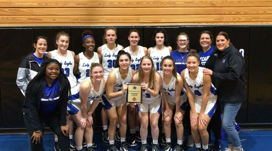 The New Caney Lady Eagles defeated Conroe for the Dekaney Tournament championship on Saturday, Dec. 28, 2019 in Spring. Photo: Submitted Photo
